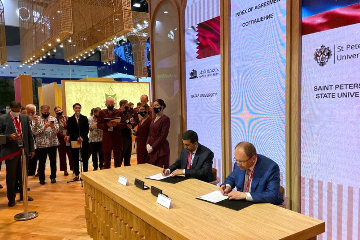 St Petersburg University signs cooperation agreements with leading universities in Qatar