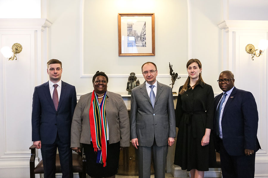 The South African Ambassador has met with the Rector of the University